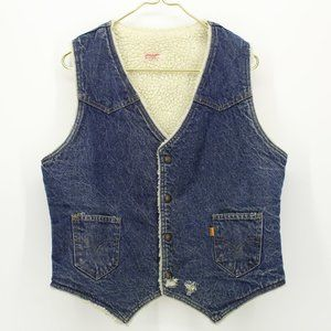 Vintage Levi's Orange Tag Jean Sherpa Vest